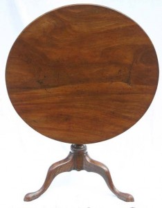 Lot 92 at Stanton Auctions, a flip top table