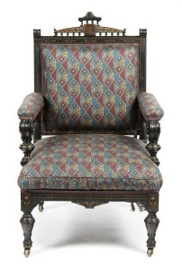 A Renaissance Revival armchair offered at Leslie Hindman