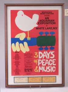 This Woodstock Poster sold for $375 at Rago Estate and Fine Art Division in 2003