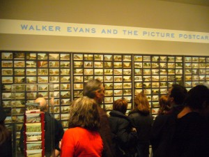 "Crowd in the Exhibition of ""Walker Evans And The Picture Postcards"""