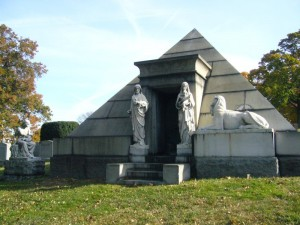 A Pyramid tomb in Green-Wood Cemetery