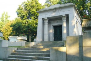 An example of Egyptian Revival tomb chamber in Homewood Cemetery, Pittsburgh, PA