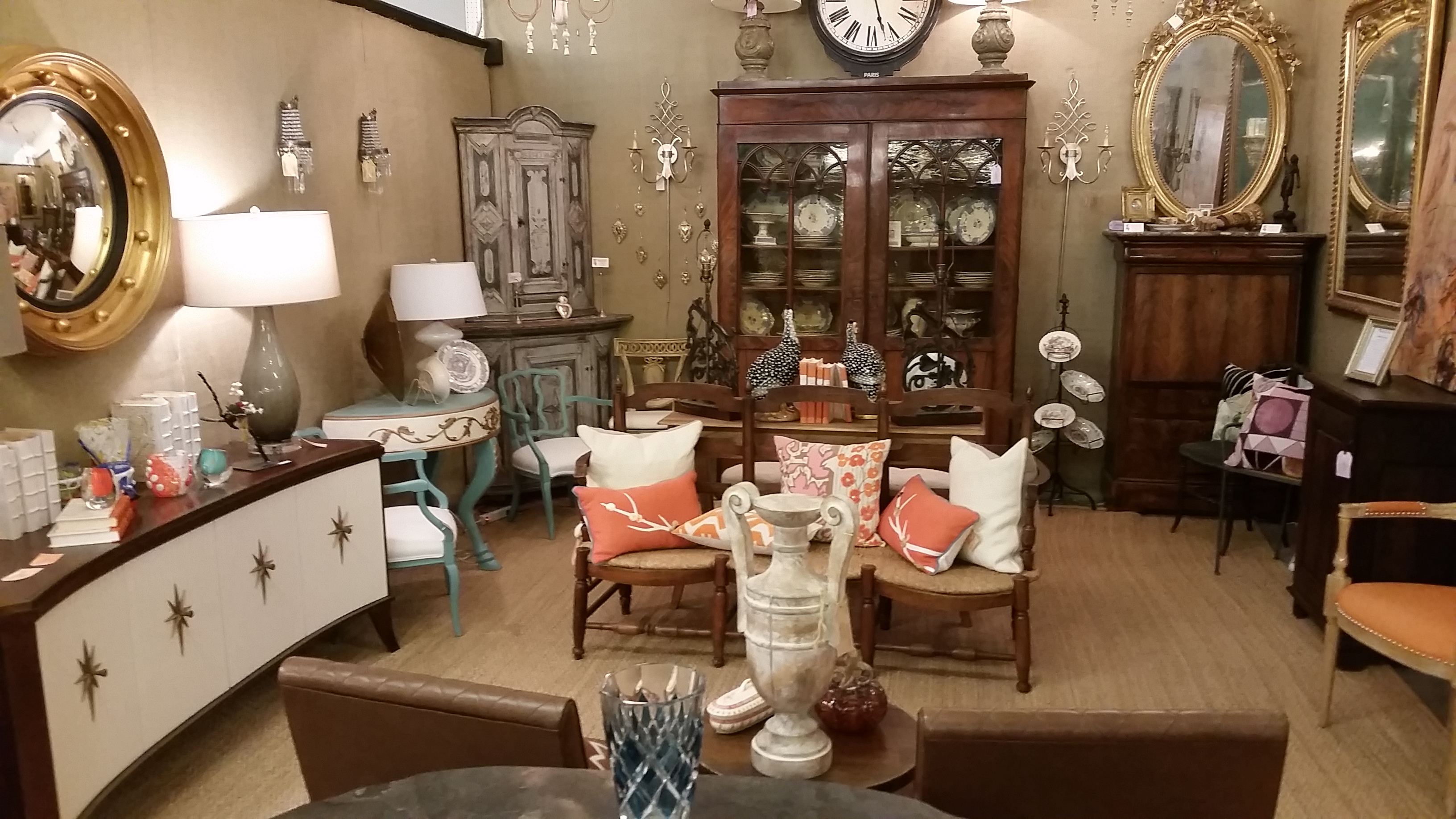 Classical and Midcentury at Antique Pavilion Houston