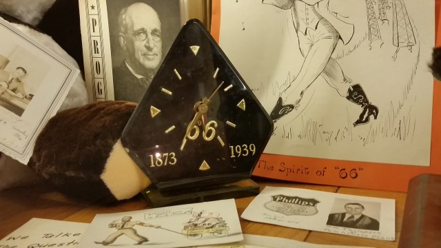 Frank Phillips 66th Birthday Clock at Woolar