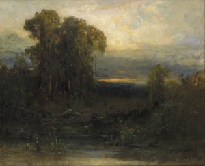 Edward Mitchell Bannister's painting was sold at Swann Galleries for $21600