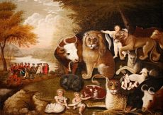 Edward Hicks (American, 1780-1849). The Peaceable Kingdom, ca. 1833-1834. Oil on canvas, Brooklyn Museum
