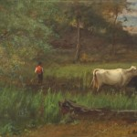 George Inness (American, 1825–1894), A Pastoral, c. 1882–85. Oil on canvas, 30 x 45 in. (76.2 x 114.3 cm). Sterling and Francine Clark Art Institute, Williamstown, Massachusetts. Gift of Frank and Katherine Martucci, 2013.1.3
