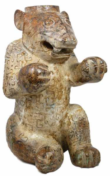 Ancient Chinese jade bear auction florida elite