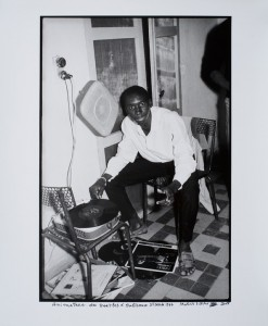 "Malick Sidibé, ""Animateur des Beatles á Bolibana, 25 Mar. 1967"" (Disc Jockey at Beatles in Bolibana),1967/2008. Courtesy of the artist and Jack Shainman Gallery, New York."