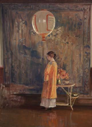 Guy Rose, In the Studio, circa 1910. Oil on canvas, 24 x 18 inches. Crocker Art Museum, long-term loan and promised gift of The Rose Art Foundation.