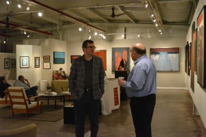 William Reaves with Eric Miller in the Gallery