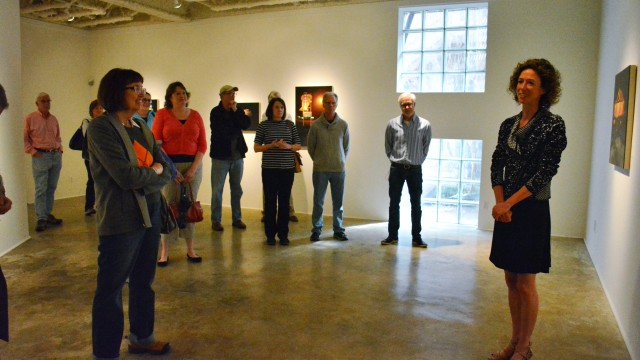 Sarah Williams gave a talk at McMurtrey Gallery, Houston
