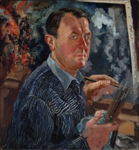 Self Portrait, 1936  George Grosz, German  Oil on canvas  Overall: 30 3/8 x 28 1/8 in. (77.17 x 71.45 cm)  Dallas Museum of Art, gift of A. Harris and Company in memory of Leon A. Harris, Sr.