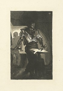 Intensified drama - The Blacksmith by Eugene Delacroix