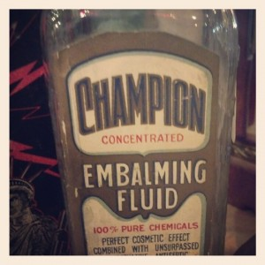 Champion Embalming Fluid from Dolly Python in Dallas