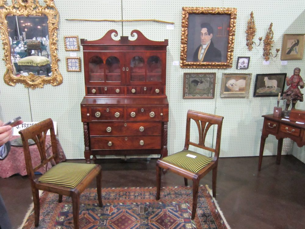 Booth at Tower Antique Show a few years back - Are Antique Shows In Dallas A Thing Of The Past? – Urban Art And