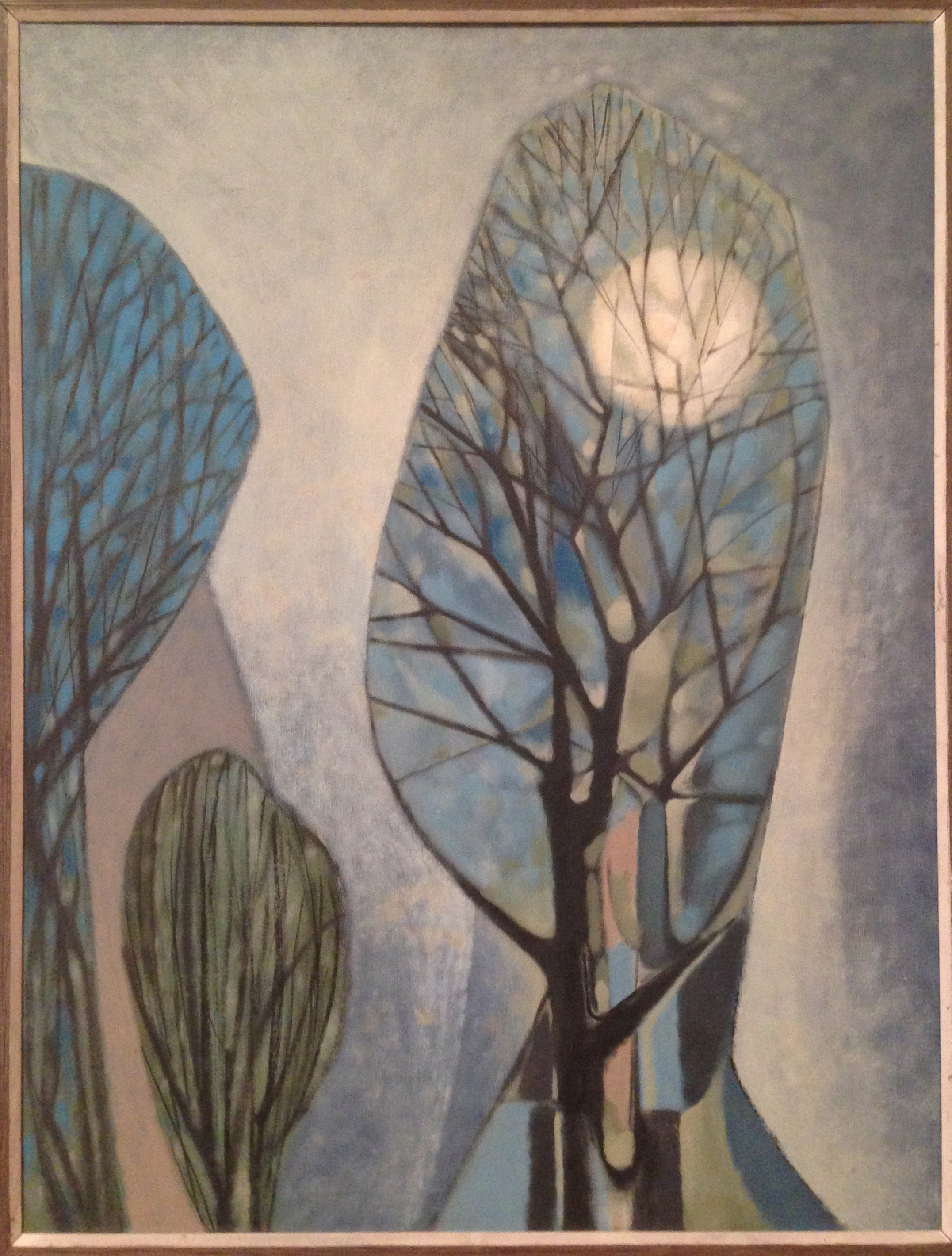 Moon Through a Winter Tree, 1957, by George Grammer. Collection of the San Antonio Art League Museum