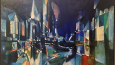 West from the Plaza, 1957 by George Grammer. Collection of Shannon Steel