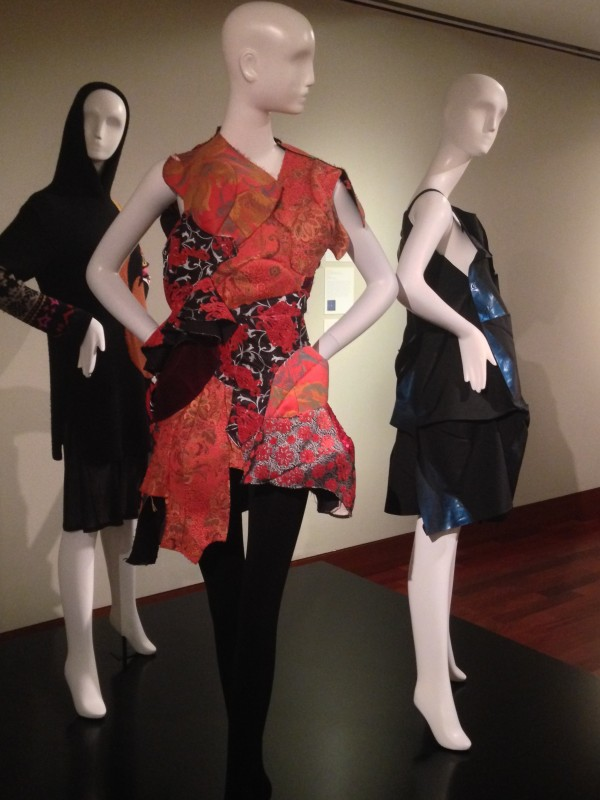 Japanese Fashion at the Crow Back left: Yoshi Yamamoto, Sweater and underdress, wool, 2012 Back right: Issey Miyake, 132_5 Dress (polyester) 2010-2011