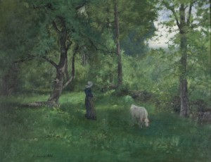 George Inness (American, 1825–1894), Green Landscape, 1886. Oil on canvas, 30 1/4 x 40 3/8 in. (76.8 x 102.6 cm). Sterling and Francine Clark Art Institute, Williamstown, Massachusetts. Gift of Frank and Katherine Martucci, 2013.1.5
