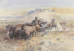 Charles M. Russell (1864–1926)  The Upper Missouri in 1840, 1902  Watercolor on paper C. M. Russell Museum, Great Falls, Montana, Trigg Collection