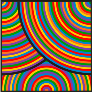 Sol LeWitt (American, 1928–2007), Color Bands (from Wadsworth Portfolio), 2000, edition of 75, linocut, Collection of  the Jordan Schnitzer Family Foundation, © Estate of Sol LeWitt/Artists Rights Society (ARS), New York