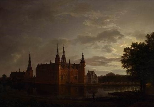 Frederiksborg Castle by Moonlight