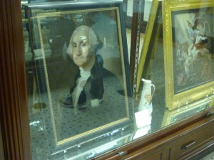 George Washington, Reverse painting on glass in Philadelphia