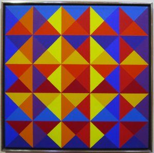Image: Multi Triangles (Untitled # 26) by Karl Benjamin, 1969, Honolulu Museum of Art via Wikipedia