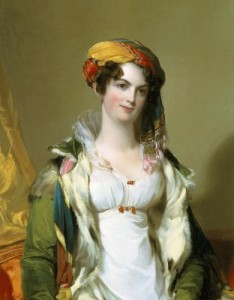 WINTER ANTIQUES SHOW Gibbes Museum of Art/Carolina Art Association. Loan Exhibition Presented by Historic Charleston Foundation. Thomas Sully, Mrs. Robert Gilmor, Jr. (Sarah Reeve Ladson), 1823, Oil on canvas, 91.6 x 71.8 cm (36 1/8 x 28 1/4 in.). (PRNewsFoto/Winter Antiques Show) NEW YORK, NY UNITED STATES