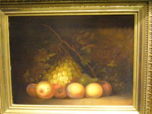 A rare still life painting by portrait painter Robert Street offered from McCarty Gallery