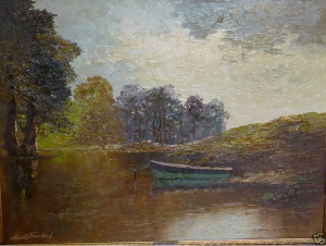Landscape painting by Arnold Grabone on eBay