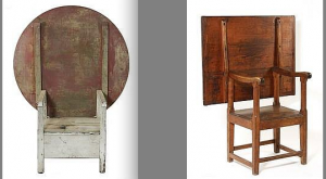 Lot 5 (left) and Lot 282, two chair tables offered by Thomaston Place Auction Galleries on August 22