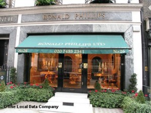 The front entrance of Ronald Philips antiques