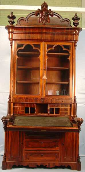Rosewood Secretary Desk by Thomas Brooks