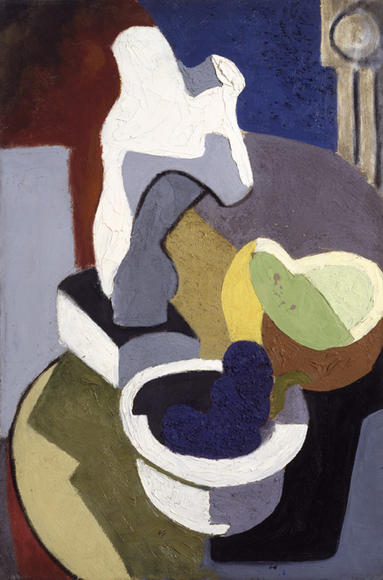 David Smith (1906–1965)  Untitled (Table Top Still Life), ca. 1930  Oil on canvas Art © Estate of David Smith/Licensed by VAGA, New York The Estate of David Smith, Courtesy Gagosian Gallery, New York
