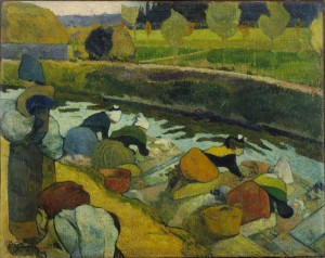 Paul Gauguin (French, 1848-1903); Washerwomen, Arles 1888; Oil on burlap; The William S. Paley Collection, The Museum of Modern Art, New York