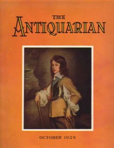 October, 1929 Antiquarian Magazine