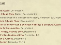 Season of Antique and Art Shows Approaching