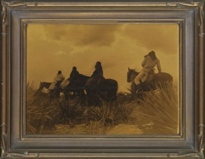 Lot 54, The Storm, Apache by Edward Curtis