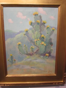 Cactus in Bloom, Dawson Dawson-Watson David Dike Early Texas Art