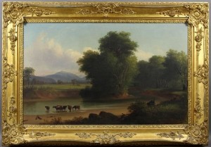 Cattle in Stream Painting