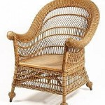 Lot 554: Heywood-Wakefield Natural Finish Wicker Armchair from Thomaston Place Auction Galleries