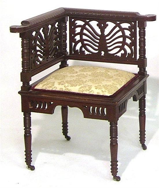 A Mahogany Corner Chair from Winter Associates