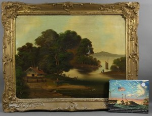 A painting attributed to Thomas Chambers from Kaminski Auctions