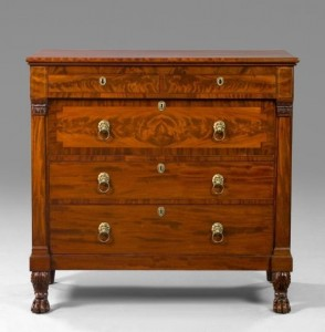 A Fine American Classical Mahogany Chest from New Orleans Auction
