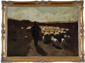 Another Barbizon subject painting at Cowan Auctions
