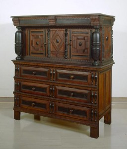 Court Cupboard, Plymouth Colony, MA, Treasure of Wallace Nutting Collection at Wadsworth Atheneum Museum of Art