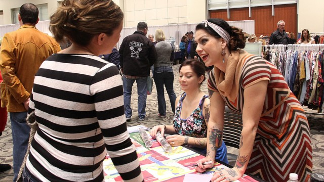 Danielle Colby of American Pickers at the Grand Rapids Antiques Market in January