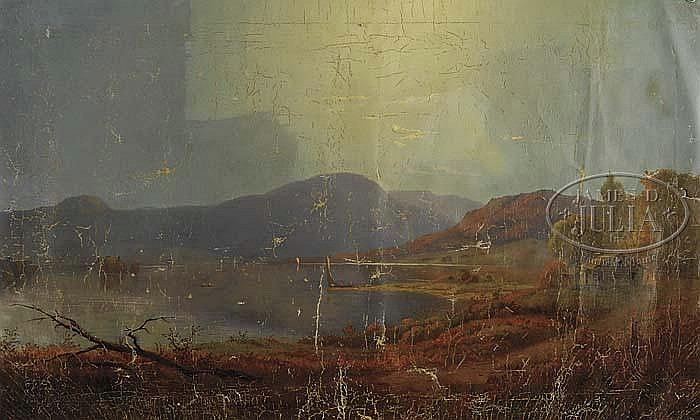 ROBERT SCOTT DUNCANSON, PANORAMIC LANDSCAPE, offered by James D. Julia